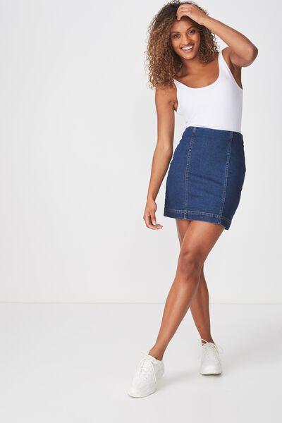 8c94c6725101 Denim Stretch Mini Skirt
