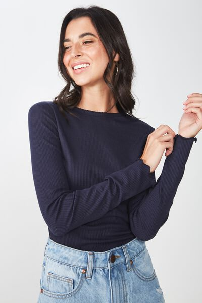The Sister Long Sleeve Top, MOONLIGHT