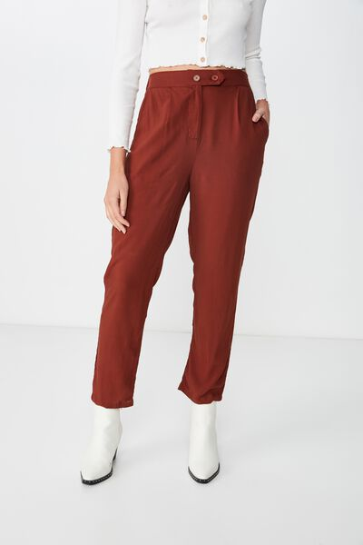 Amy Tapered Pant, CHERRY MAHOGANY