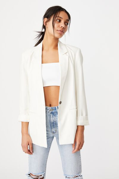 Ultimate Casual Blazer, WHITE