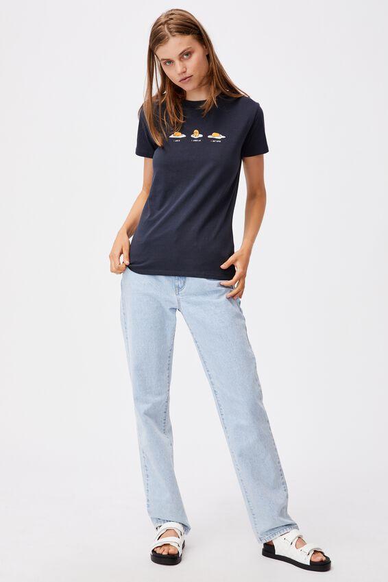 Classic Pop Culture T Shirt, LCN SAN GUDETAMA DON'T BOTHER/MOONLIGHT