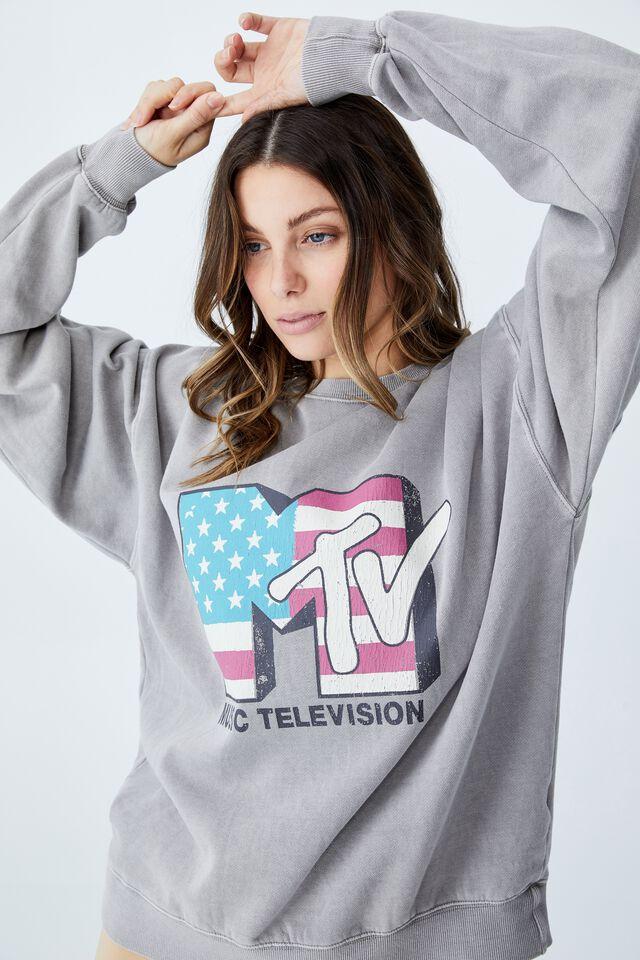 Collab Classic Crew, LCN MTV Flag / THUNDER GREY