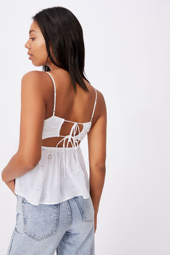 Molly Tie Back Cami - Petite, WHITE