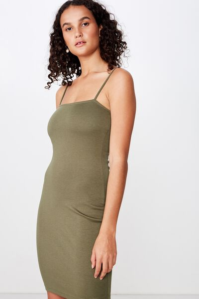 Phoebe Mini Dress, SOFT KHAKI