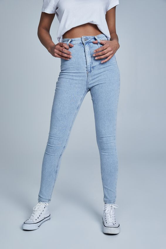 Ultra High Super Stretch Jean, LENNOX BLUE POCKETS