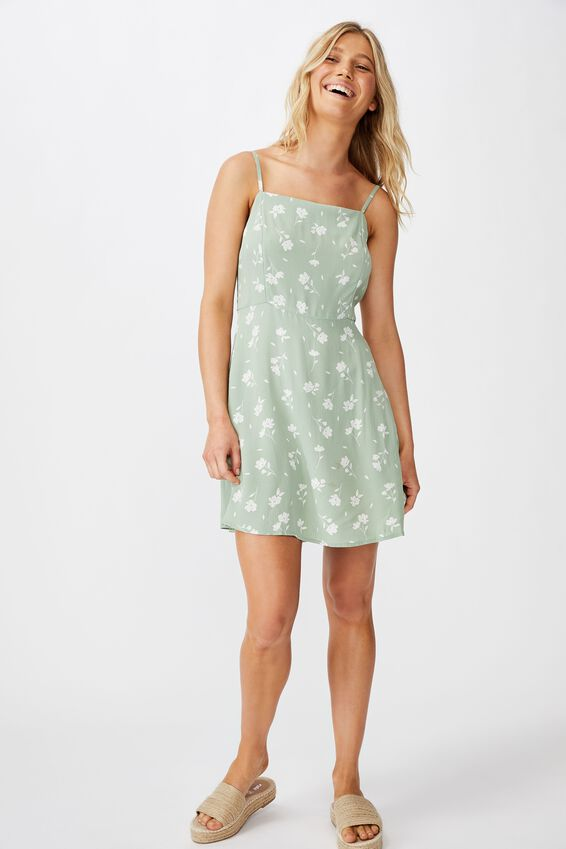 Woven Kendall Mini Dress, LUCY FLORAL GREEN BAY