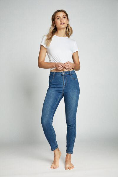 Mid Rise Super Stretch Jean, BERKLEY BLUE