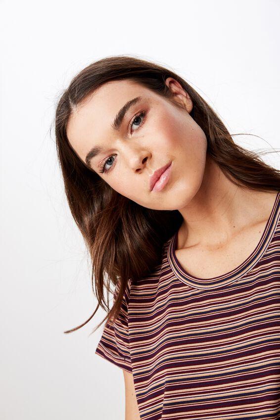 Tina Tshirt Dress 2, ASHLEY STRIPE TOTAL ECLIPSE