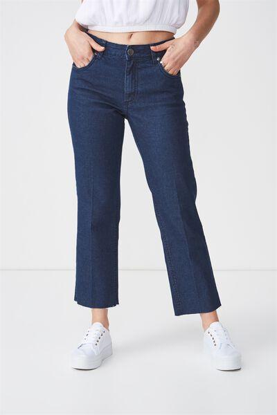 Mid Rise Straight Crop Stretch Jean 2, TONAL RINSE