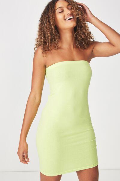 Amy Bandeau Bodycon Mini Dress, GREEN GLOW