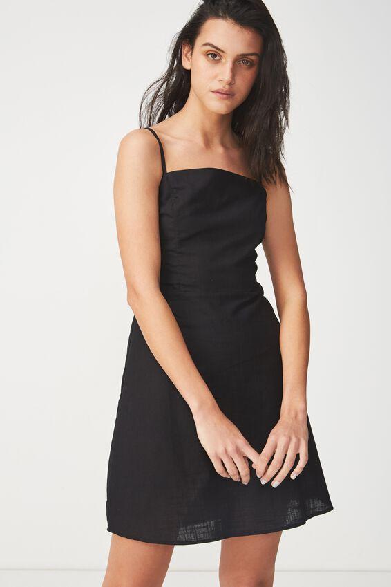 Woven Krissy Dress, BLACK - L