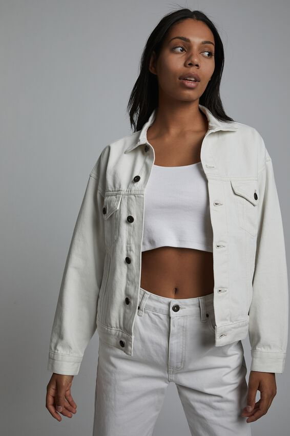 Ultimate Oversized Denim Jacket, WHITE HAVEN