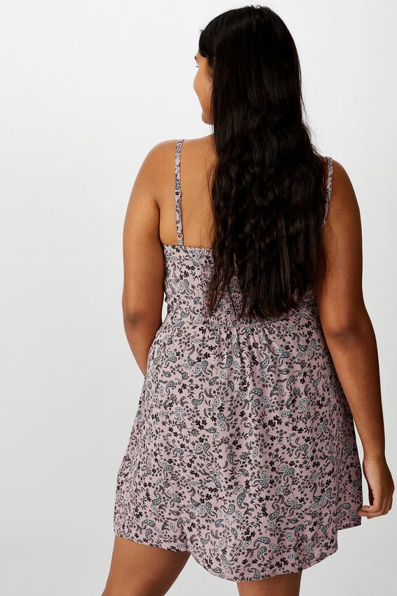 Curve Woven Kendall Dress, BLAIR FLORAL KEEPSAKE LILAC