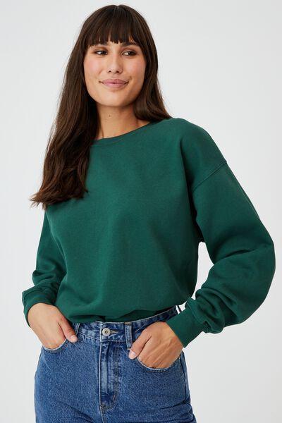 Classic Sweatshirt, HERITAGE GREEN