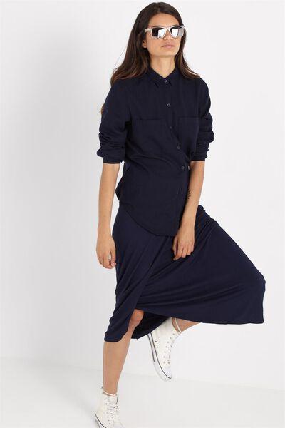 Sea Moonshine Wrap Skirt, MOONLIGHT