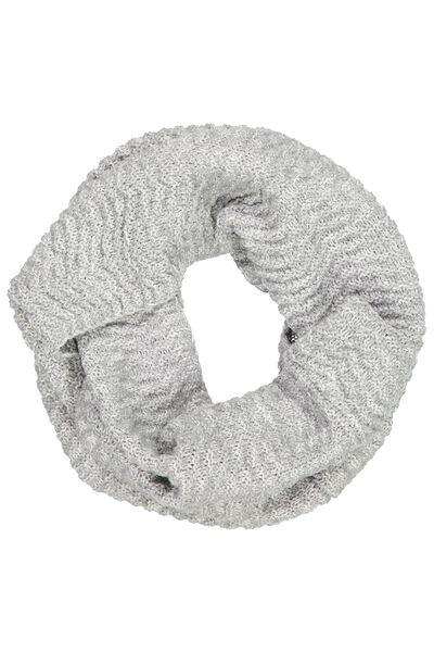 Cedar Knitted Snood, GREY MARLE TWIST