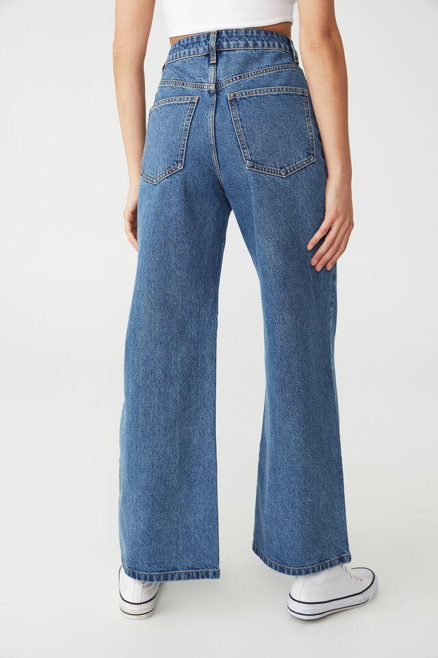 Petite Wide Leg Jean, OFFSHORE BLUE