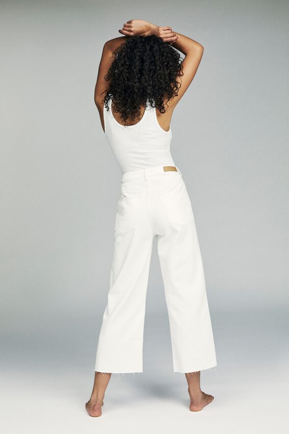 Wide Leg Cropped Jean, VINTAGE WHITE POCKETS
