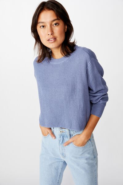 Archy Cropped 2 Pullover, COUNTRY BLUE