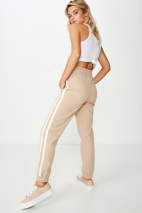 Slim Fit Trackpant, NOMAD/NEUTRAL SIDE STRIPE