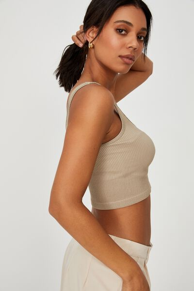 Stannie Seamless Tank, VINTAGE TAUPE