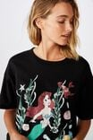 The Original Graphic Tee, LCN DIS LITTLE MERMAID VINTAGE/BLACK