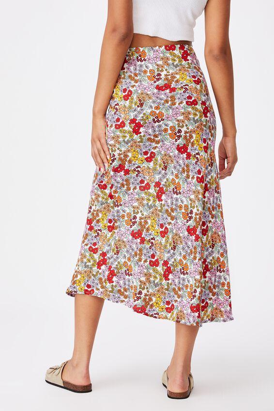 All Day Slip Skirt, ELLIE FLORAL MULTI