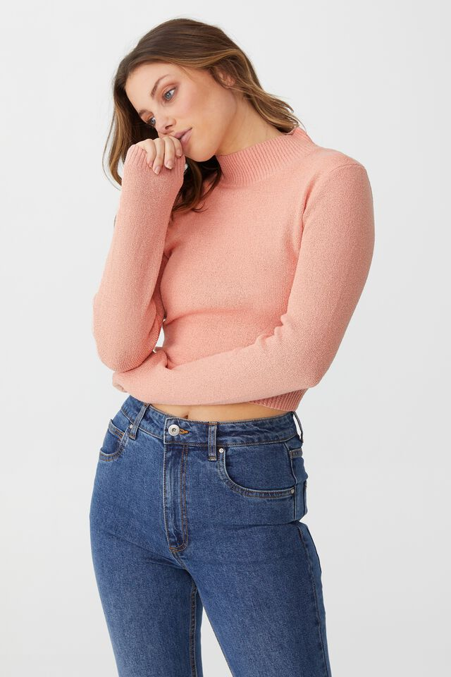 Set Up Pullover, DUSTY PINK