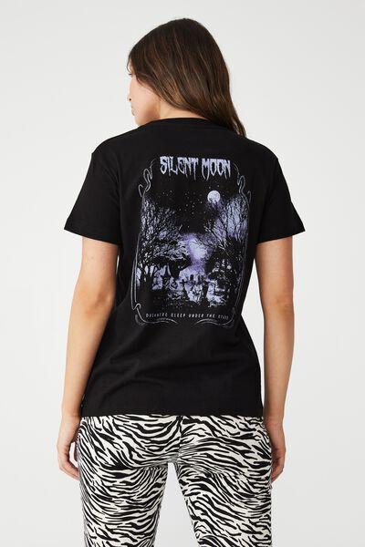 Classic Arts T Shirt, SILENT MOON/BLACK