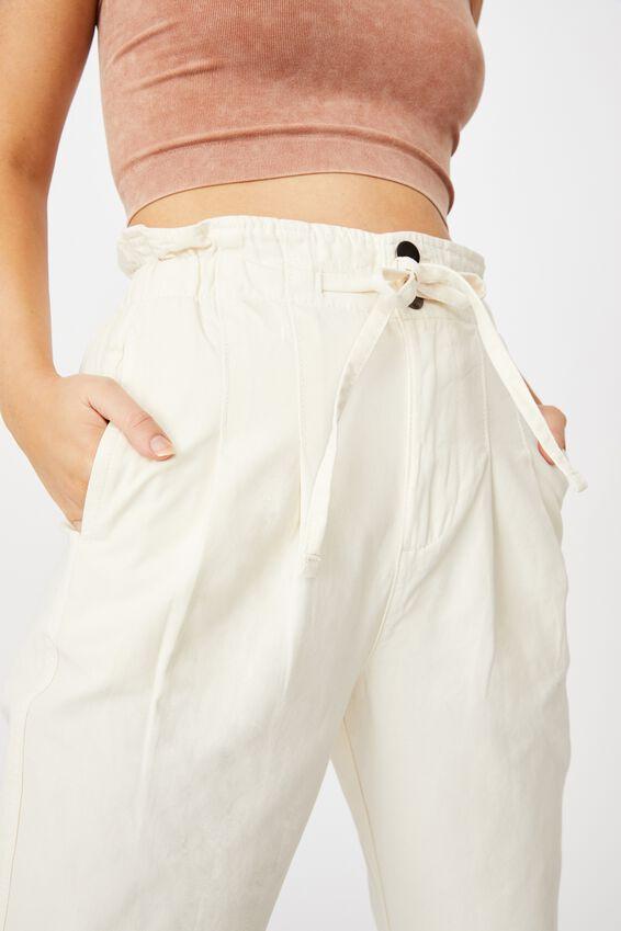 Paperbag Pant, WHITE