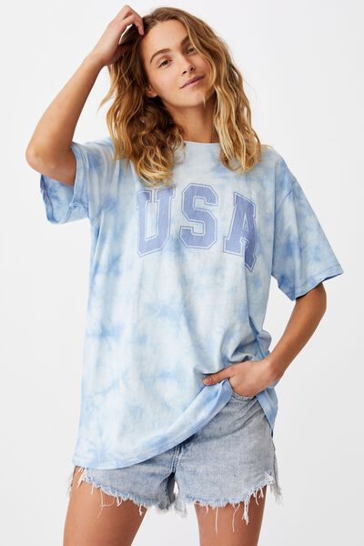 The Dad Graphic Tee, USA/TIE DYE