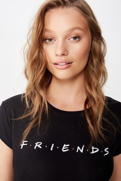 221d052b Essential Friends T Shirt, LCN WB FRIENDS LOGO/BLACK