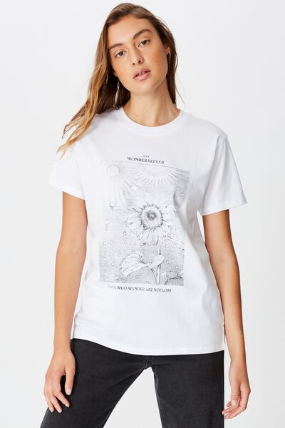 Classic Arts T Shirt, WONDER SEEKER/WHITE