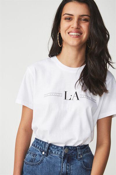 Tbar Fox Graphic T Shirt, LA LOST ANGEL/WHITE