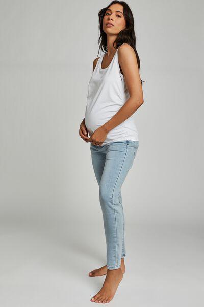 Maternity Super Stretch Jean (Over Belly), BORA BLUE