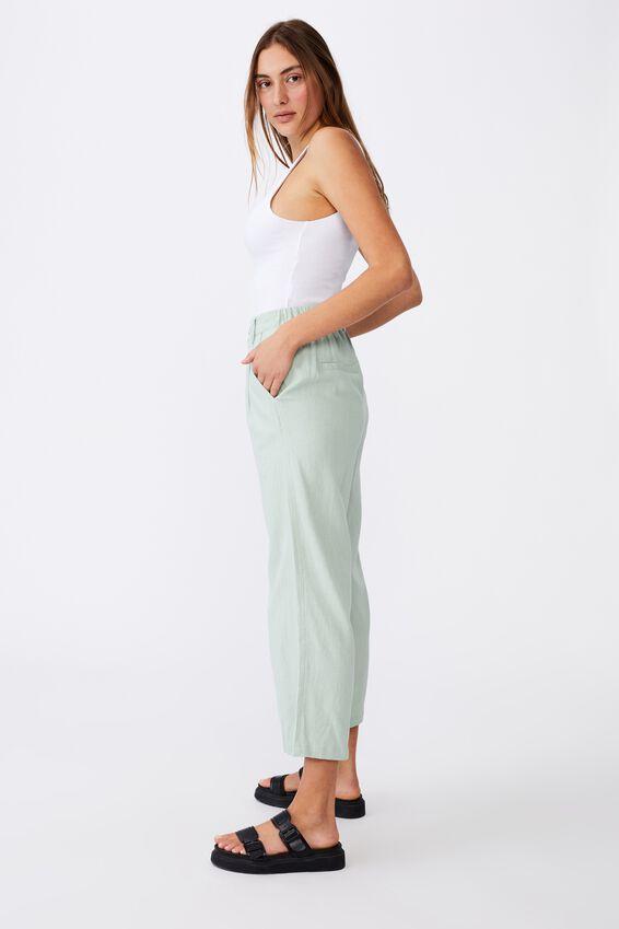 Cindy Wide Leg Pant, LUSH GREEN