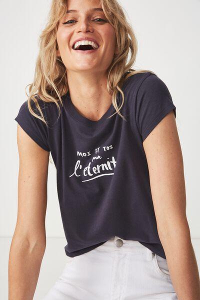 Tbar Rachael Graphic Tee Shirt, MOI ET TOI/MOONLIGHT