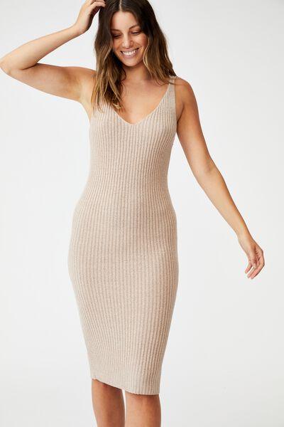Match Me Midi Dress, SILVER STONE