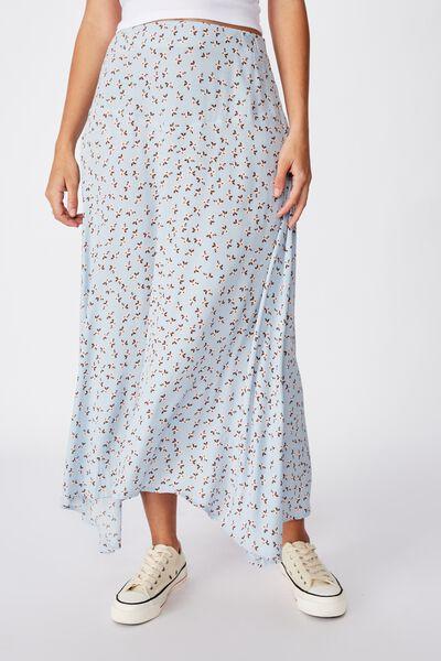Florence Midi Skirt, AIDAN DITSY CELESTIAL BLUE
