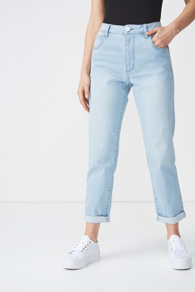 High Rise 90S Stretch Jean 2, ISLAND BABY BLUE