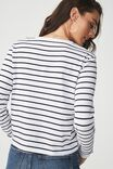Tbar Tammy Chopped Graphic Long Sleeve Tee, LA BOHEME BLACK/WHITE STRIPE