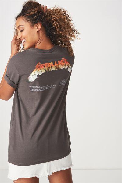 Tbar Fox Graphic T Shirt, LCN METALLICA PHOTO/SLATE GREY