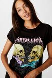 LCN PR METALLICA TWIN SKULLS/BLACK