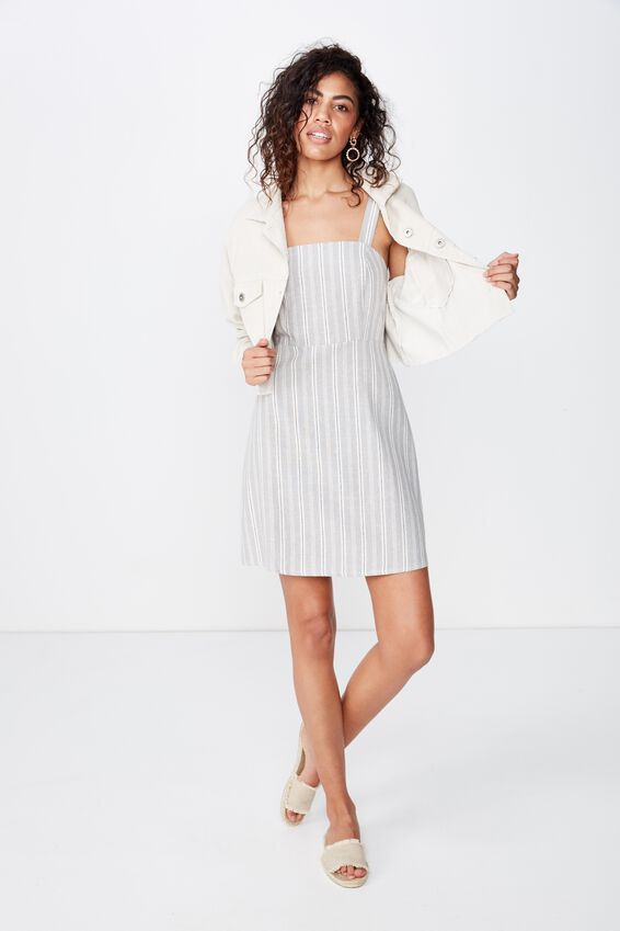 Woven Krissy Dress, MAYA MULTI STRIPE SLEET