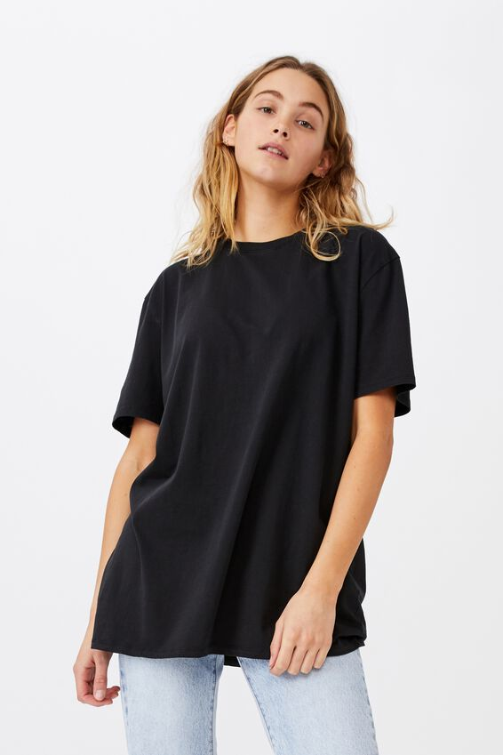 The Oversized Dad Tee, WASHED BLACK