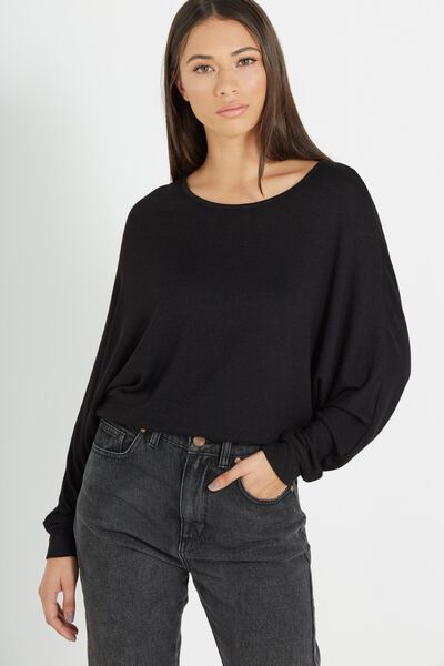 Nikita Soft Touch Long Sleeve Top, BLACK/BLACK SOFT TOUCH