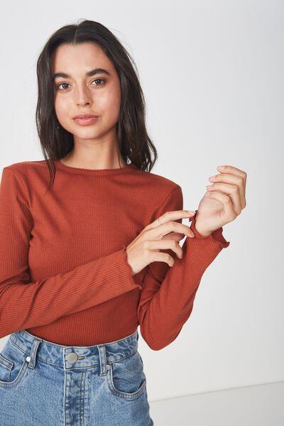 The Sister Long Sleeve Top, ARABIAN SPICE