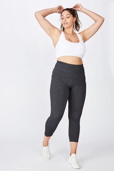 Curve Active Highwaist Core 7/8 Tight, CHARCOAL MARLE