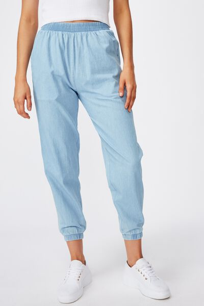 Mia Drapey Pant, LIGHT BLUE WASH