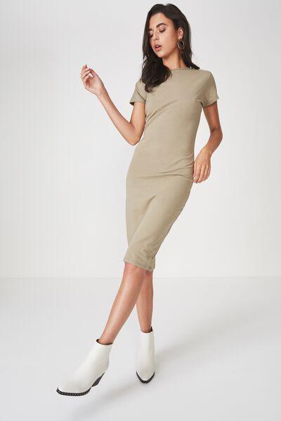 Demi Midi Bodycon Dress, SILVER SAGE